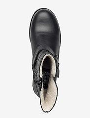 Carla F - Warm lining 81923 - flat ankle boots - black calf 80 - 3