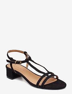 SANDALS - heeled sandals - black suede 50