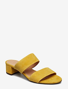 SANDALS - muły i wsówane - yellow 1795 suede 55