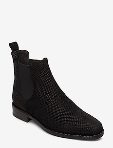 Boots 77400 - chelsea boots - black mustang snake suede 100
