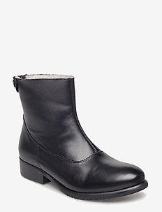 BOOTS - flate ankelstøvletter - black calf 80