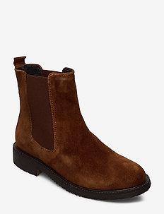 BOOTS - chelsea boots - cognac 1614 suede 556