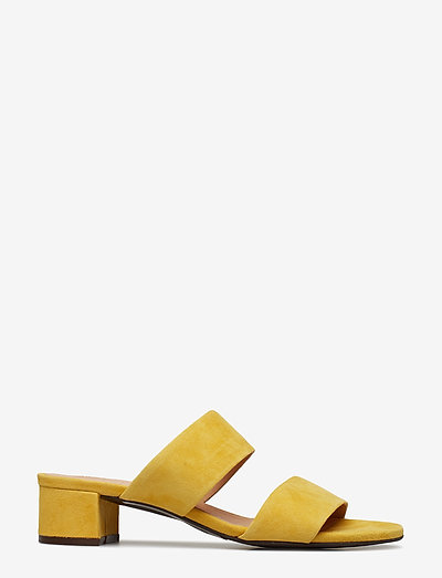 Carla F Sandals- Mules & Slipins Yellow 1795 Suede 55