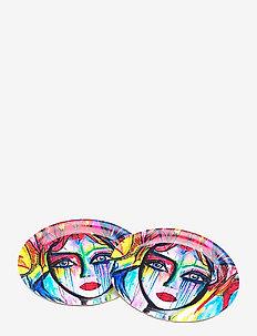 Glass Coaster Slice of life - bordbrikker, glassunderlag & bordskånere - multi colour