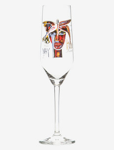 Butterfly Mess. IV - champagneglass - clear with decal