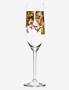 In Love - champagneglass - clear with decal