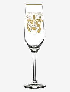 Golden Dream Gold - champagneglass - clear with decal