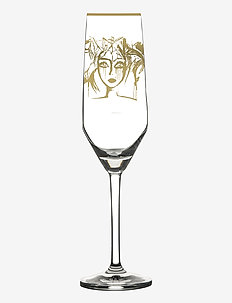 Slice of Life Gold - champagneglass - clear with decal