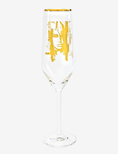 Wild Woman Gold - champagneglass - clear with decal