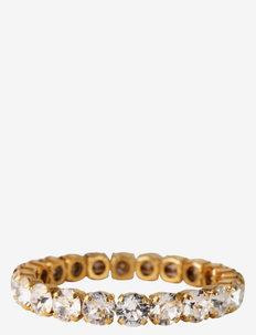 GIA STUD BRACELET GOLD - dainty - crystal