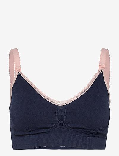 Original Maternity & Nursing Bra - zwangerschaps bh's - blue-pink lace