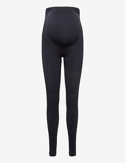 Maternity Support Leggings - leggings - black
