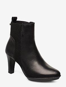 RAMON - ankelstøvletter med hæl - black