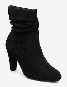 RITA - ankelstøvletter med hæl - black