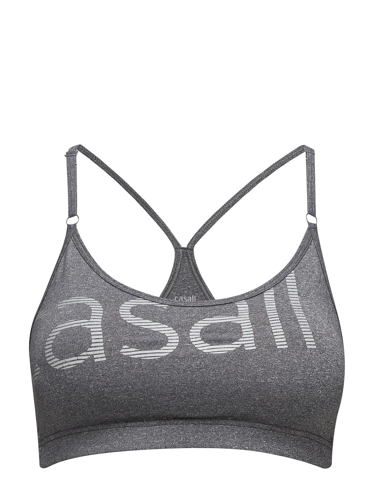 Casall Glorious sports bra - DK GREY MELANGE/SILVER