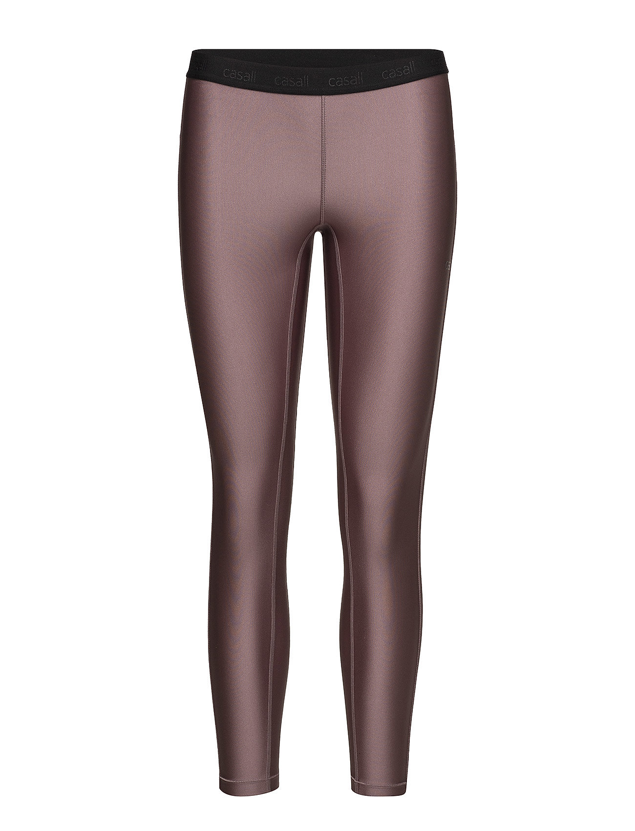 Casall Raw elastic 7/8 tights - BERRY METALLIC