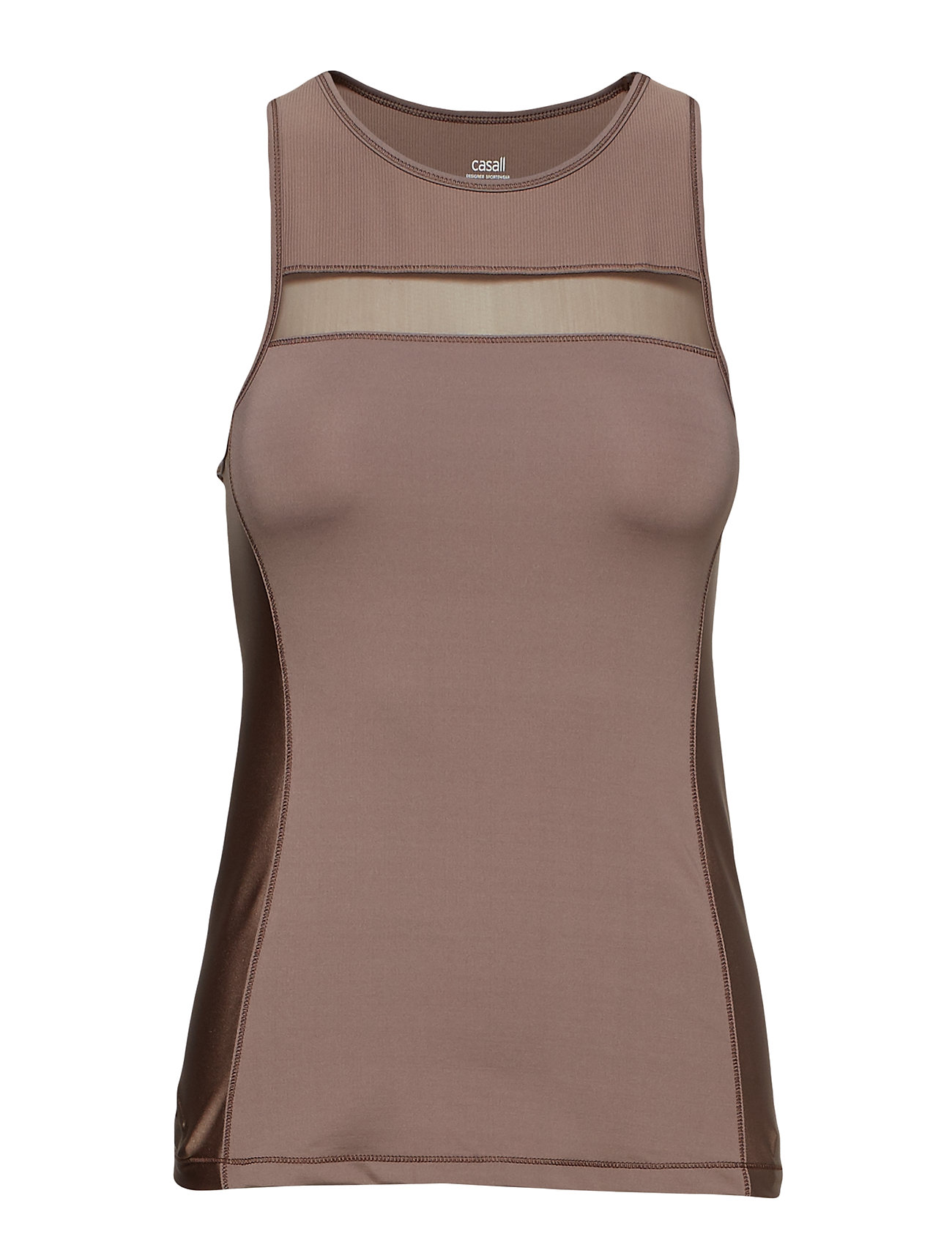 Casall Lux Tank - GROUNDED BROWN