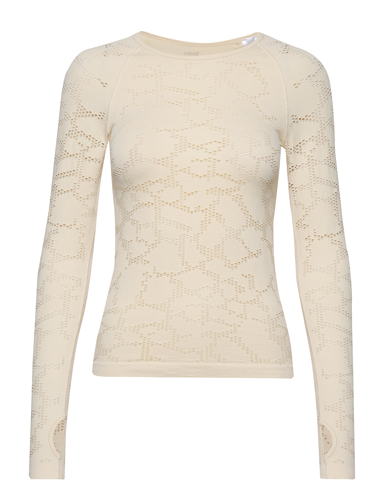 Casall Seamless Structure Long Sleeve - CORE WHITE
