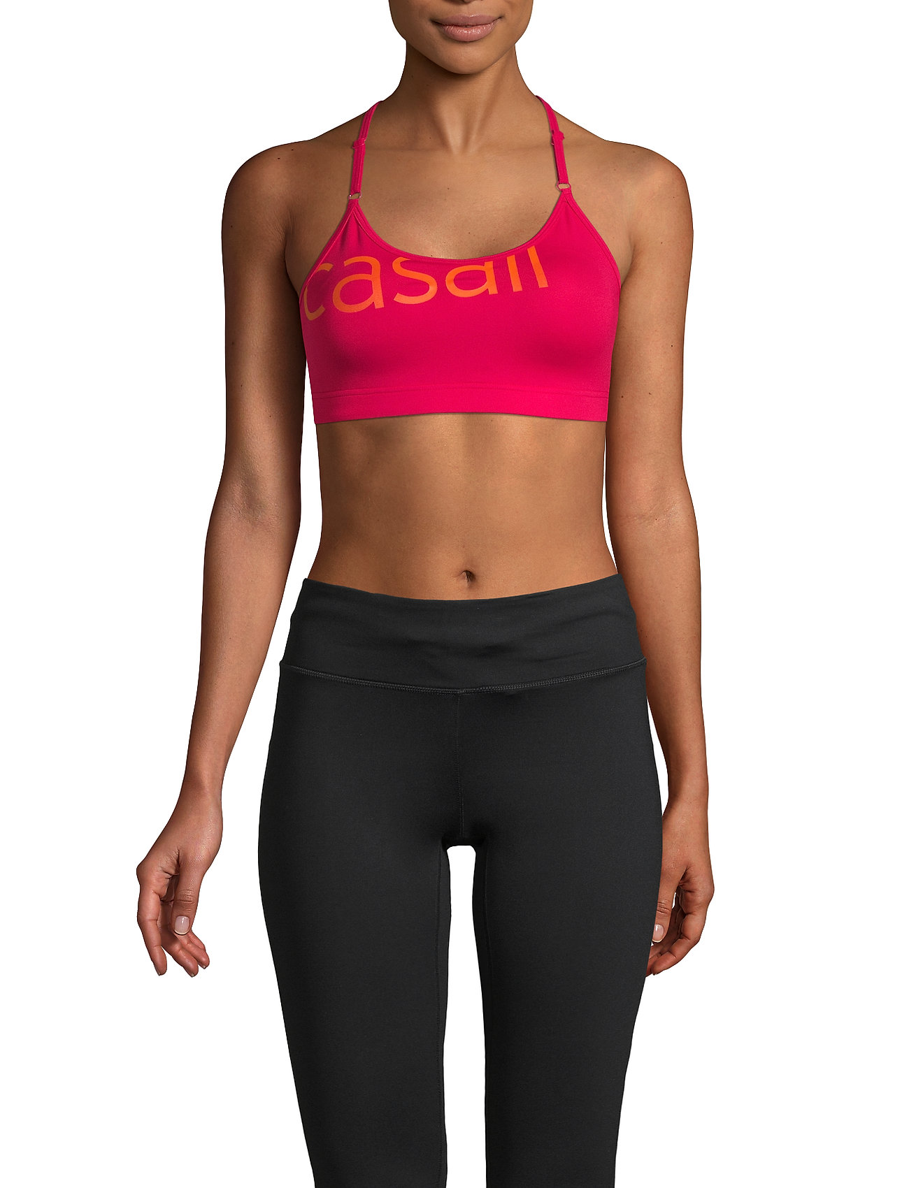 Casall - Strappy Sports Bra - sport-bh: hög - vivid pink - 0
