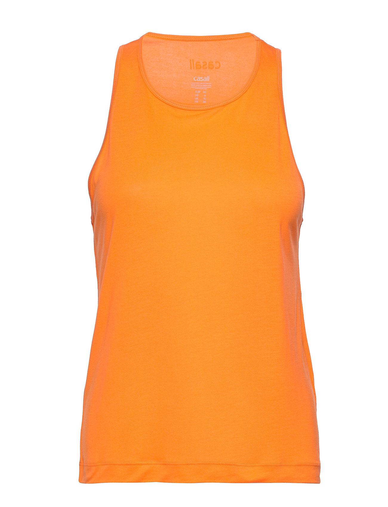 Image of Liquid Tencel Tank Top Ærmeløs Top Orange Casall (3327442559)