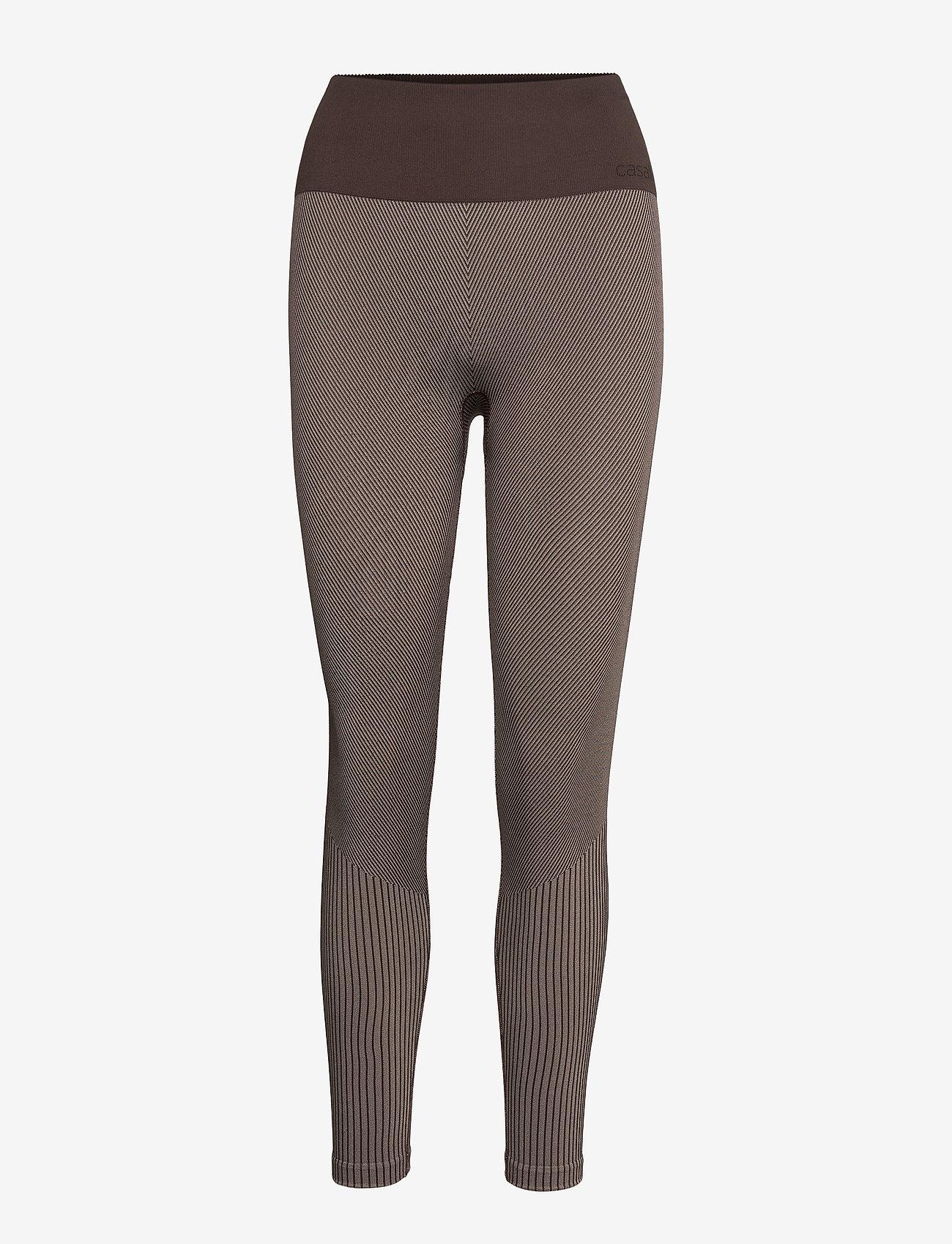 Casall - Seamless tights - running & training tights - berlin brown - 0