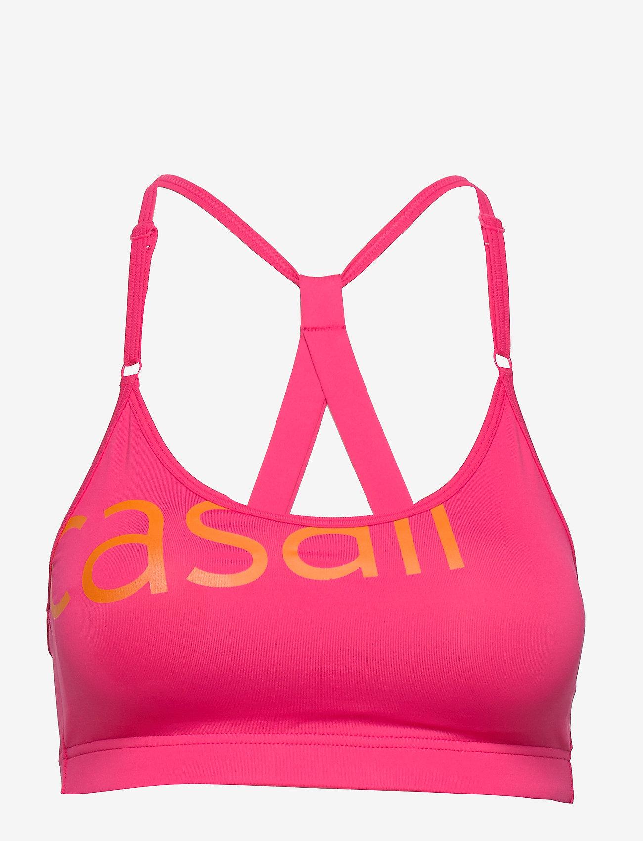 Casall - Strappy Sports Bra - sport-bh: hög - vivid pink - 1