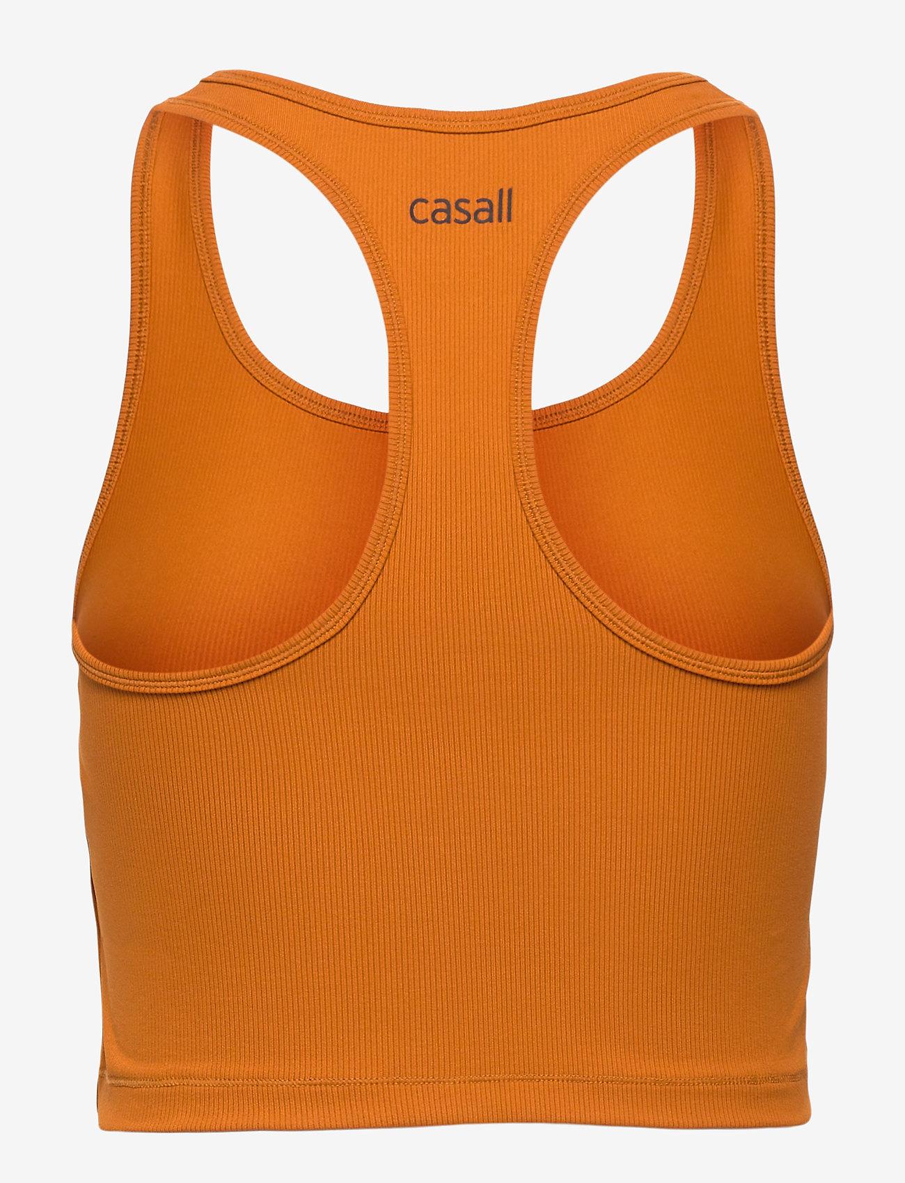 Casall - Bold Rib Crop Tank - któtkie bluzki - hazel brown - 1