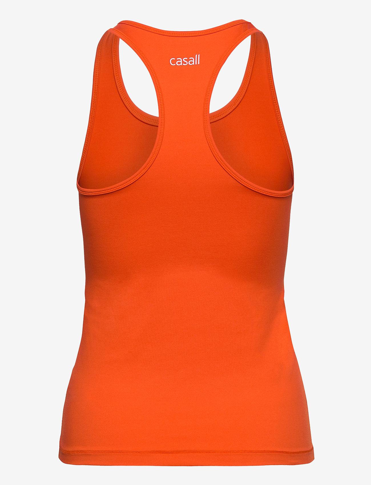 Casall - Essential Racerback - podkoszulki bez rękawów - intense orange - 1