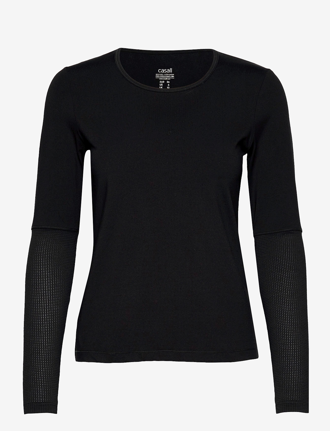 Casall - Iconic Long Sleeve - topjes met lange mouwen - black - 0