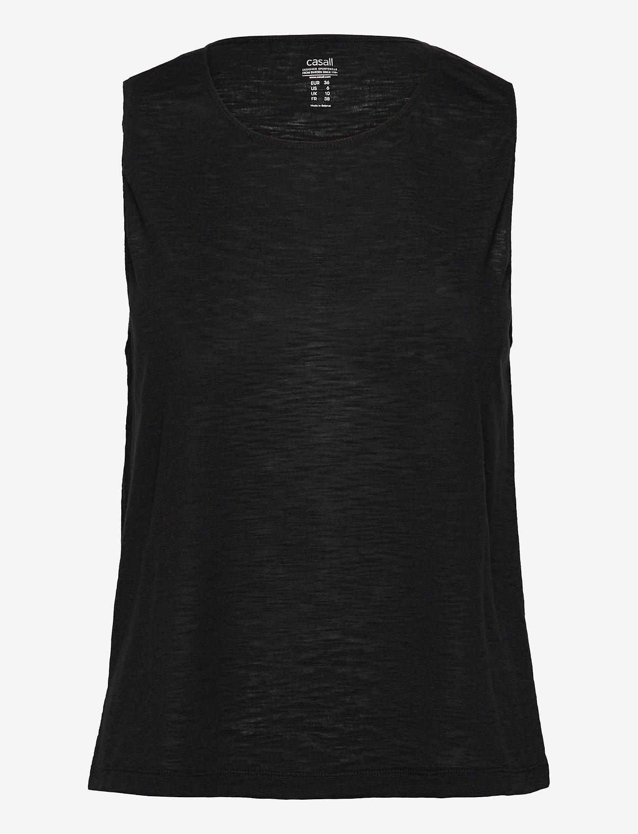 Casall - Texture Tank - topjes - black - 0