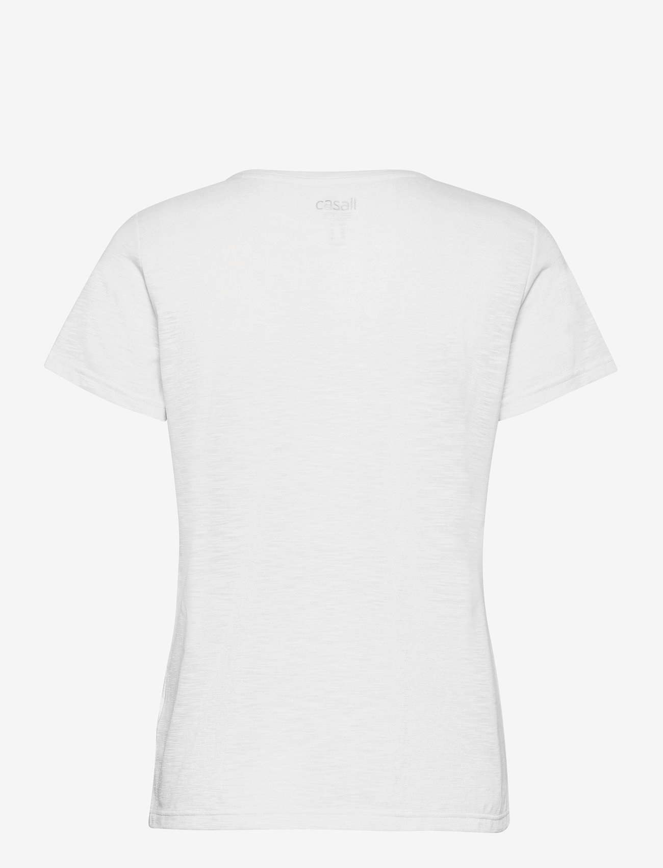 Casall - Texture Tee - t-shirty - white - 1