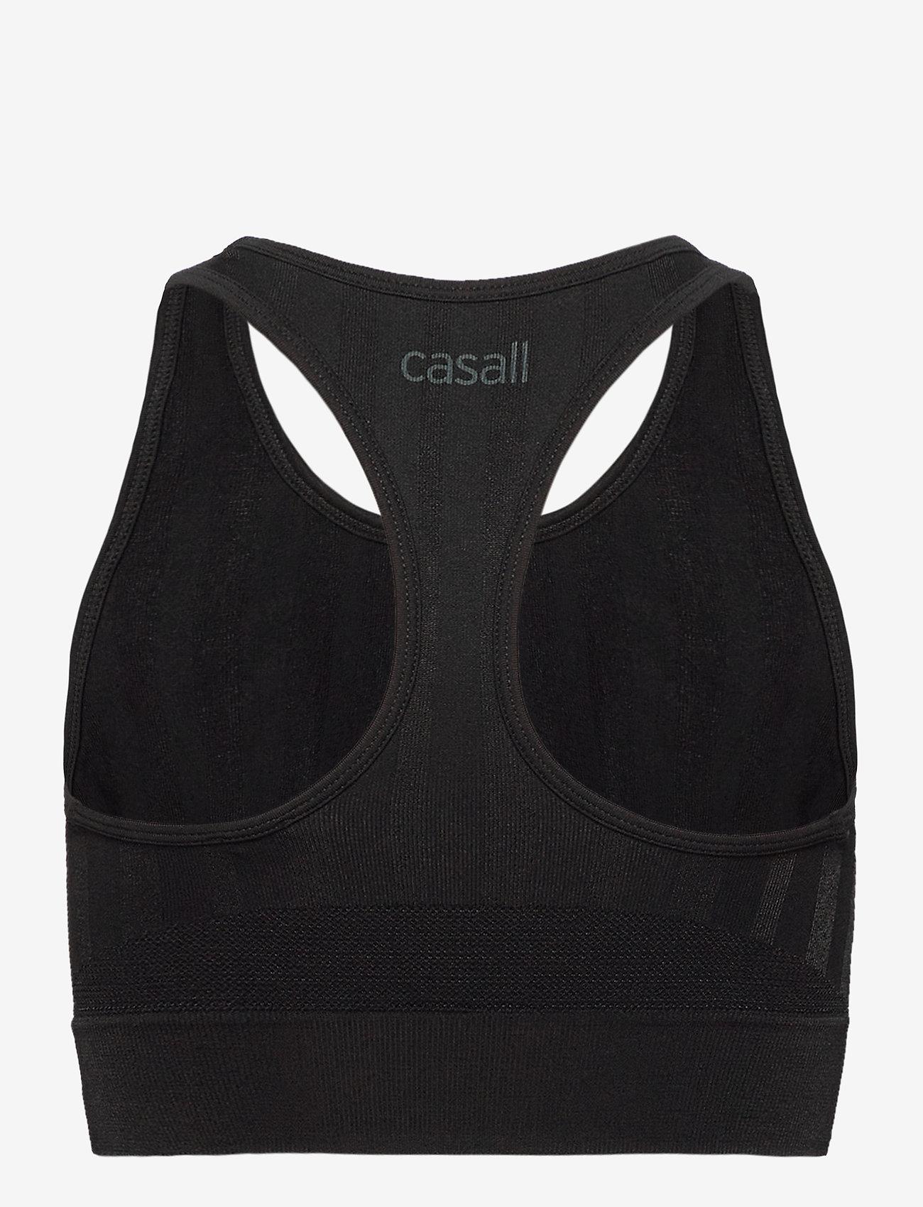Casall - Shiny Matte Seamless Sports Top - sport-bh: hög - black - 1