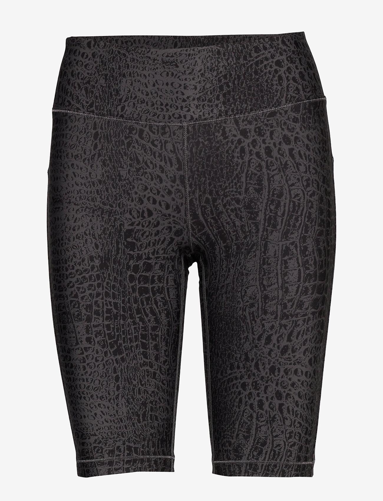 Casall - Croco Biker Tights - träningsshorts - grey croco - 0