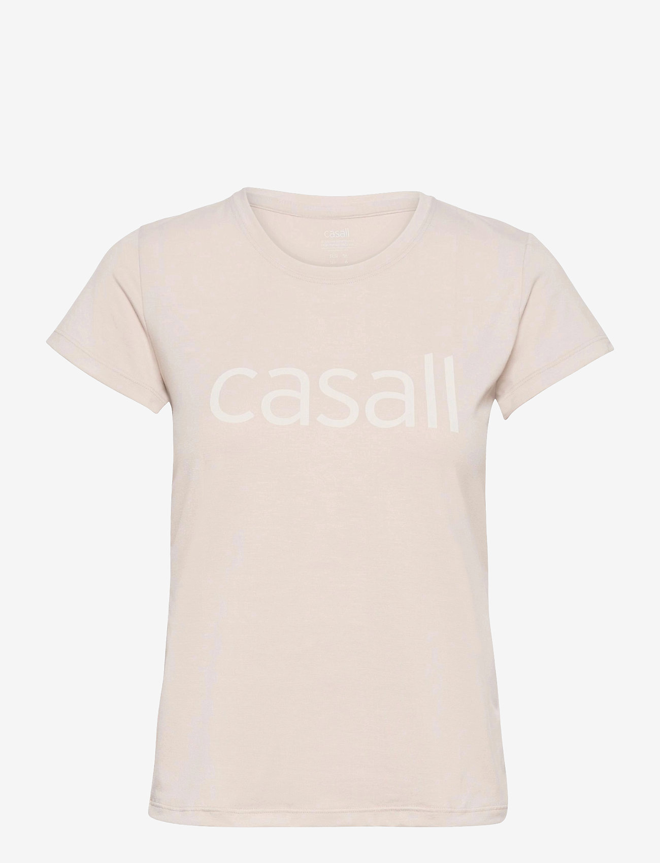 Casall - Block Logo Tee - t-shirty - warm sand - 0