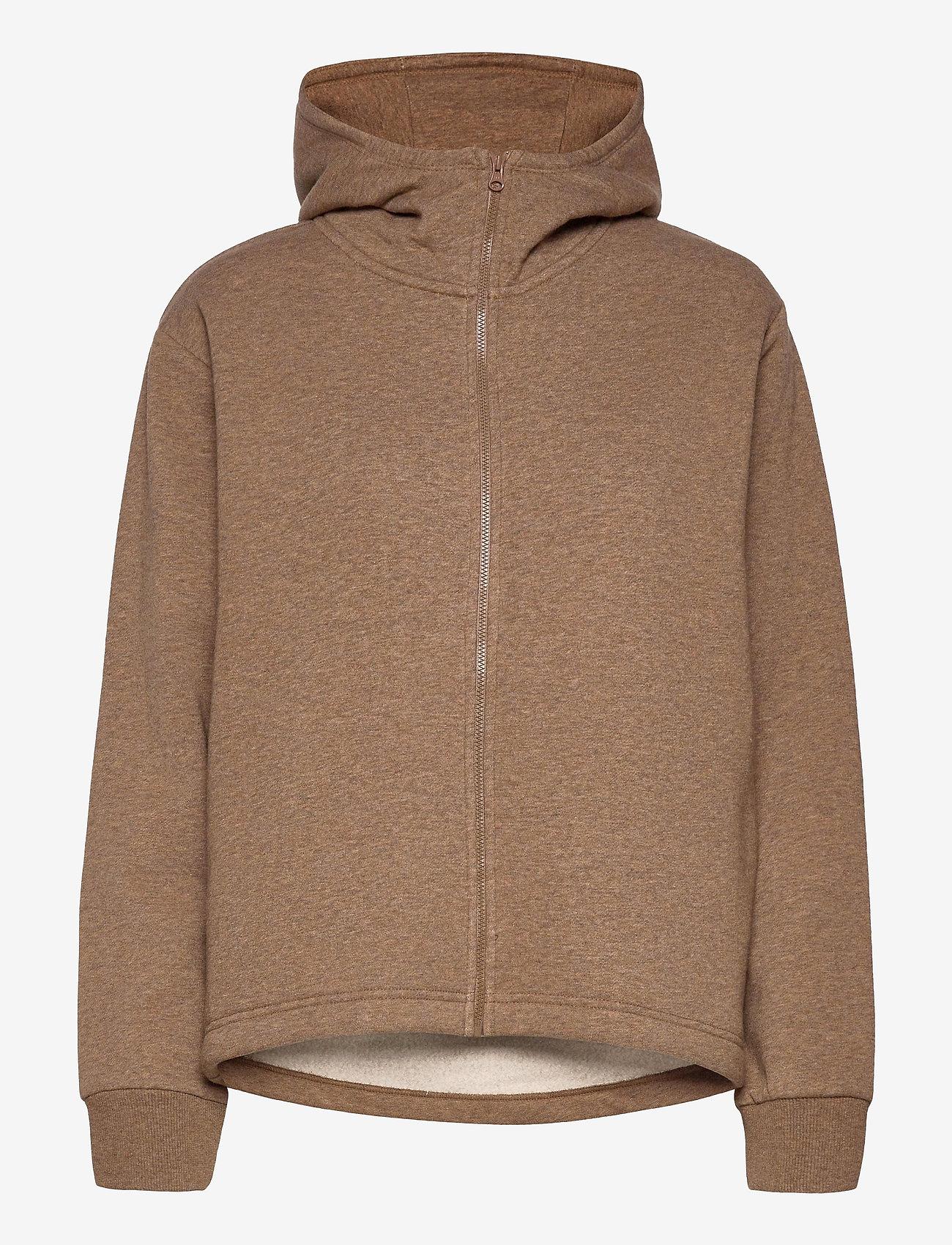 Casall - Zip Hoodie - bluzy z kapturem - brown melange - 0