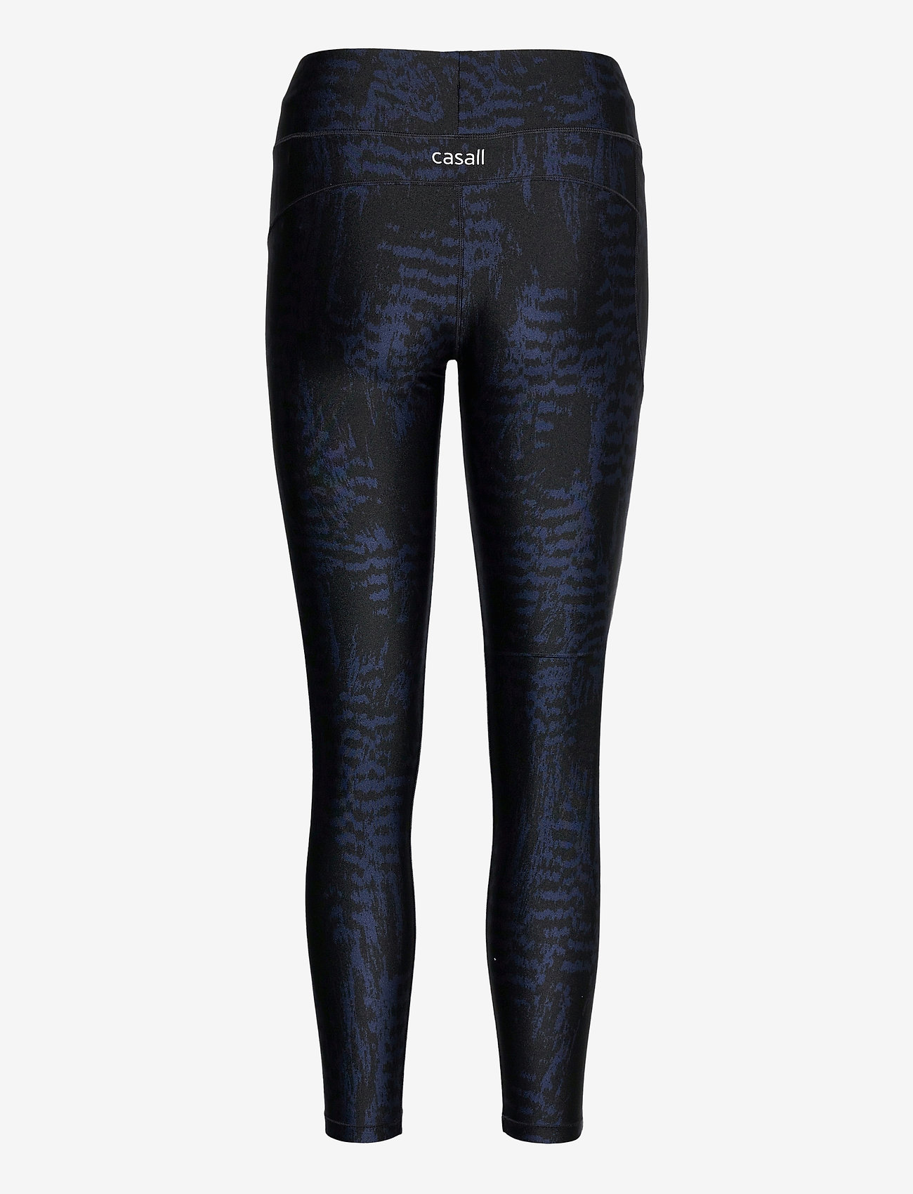 Casall - Iconic Printed 7/8 Tights - running & training tights - survive dk blue metallic - 1