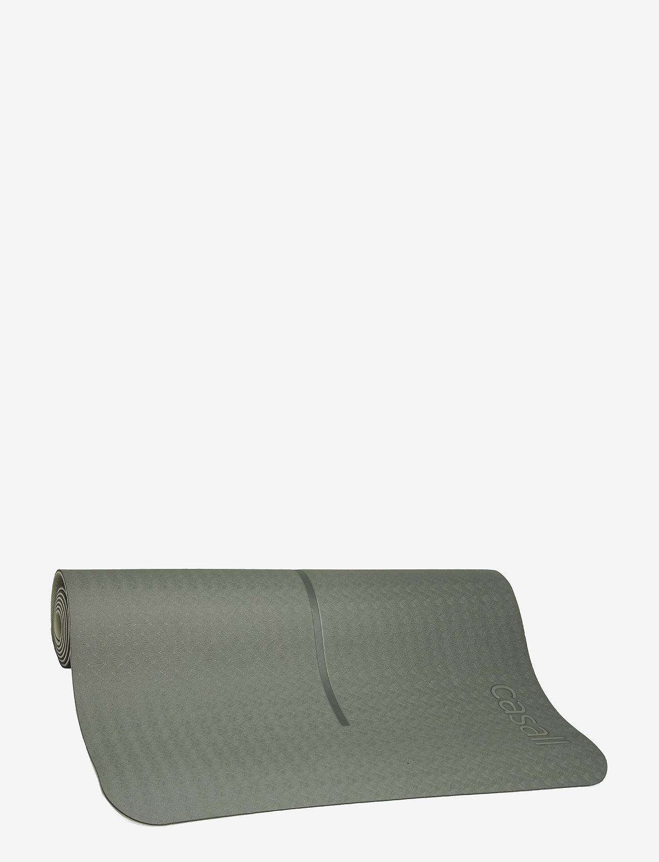 Casall - Yoga mat position 4mm - yogamatten en -accessoires - calming green - 0