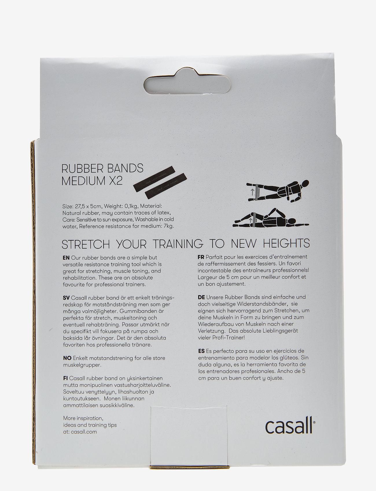 Casall - Rubber band medium 2pcs - gumy do świczeń - black - 1