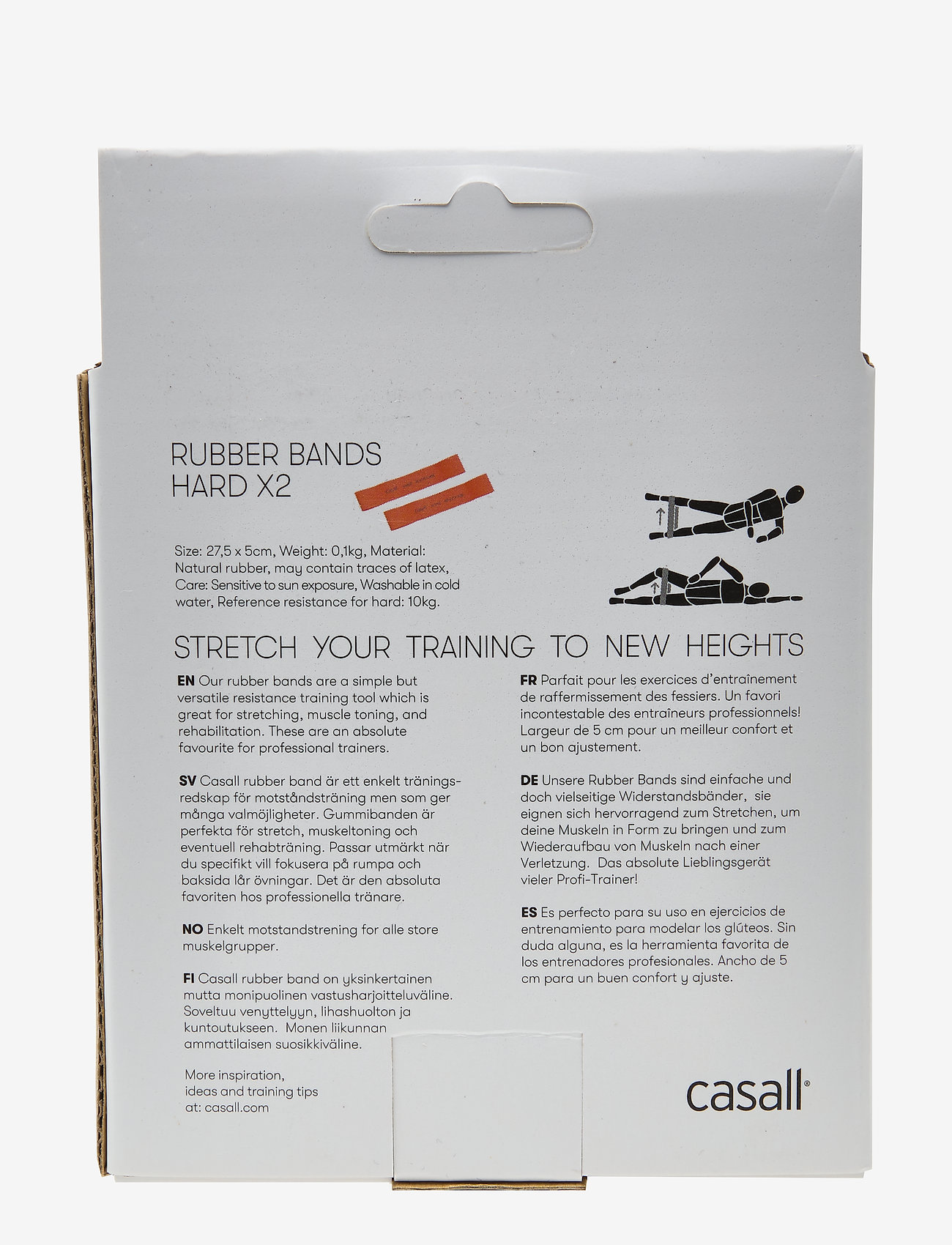 Casall - Rubber band hard 2pcs - trainingsmateriaal - orange - 1