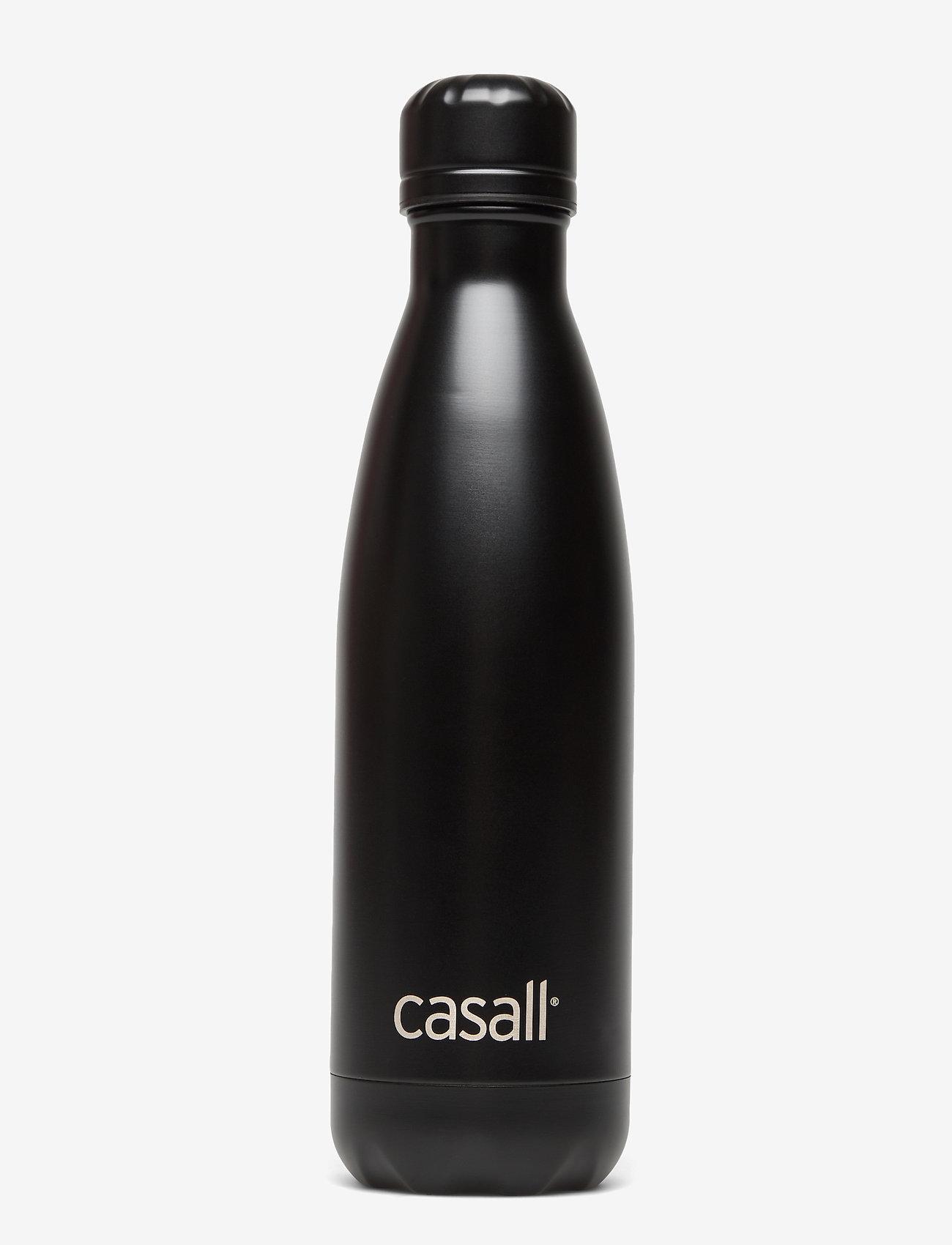 Casall - ECO Cold bottle 0,5L - vannflasker og termoser - black - 0