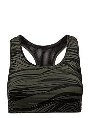 Iconic sports bra - KHAKI WAVE