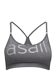 Glorious sports bra - DK GREY MELANGE/SILVER
