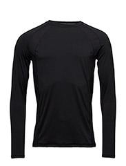 M Mix mesh long sleeve - BLACK