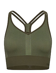 Seamless sports top - NORTHERN GREEN
