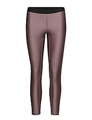 Raw elastic 7/8 tights - BERRY METALLIC