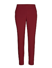 Slim woven pants - MOVING RED