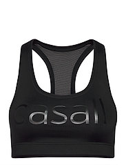 Iconic wool sports bra - BLACK LOGO
