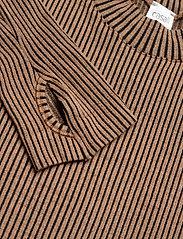Casall - Wool Rib Long Sleeve - bluzki z długim rękawem - black beige rib - 2