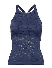 Seamless Structure Strap Tank - PUSHING BLUE