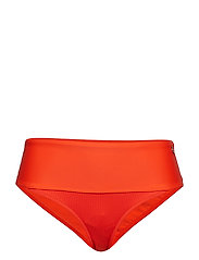 Iconic High Waist Bikini Brief - SUNSET RED
